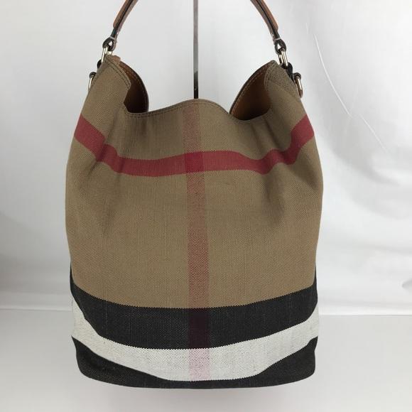 cdbf6b87e5c4b New Burberry Medium Ashby Check Print Tote Bag